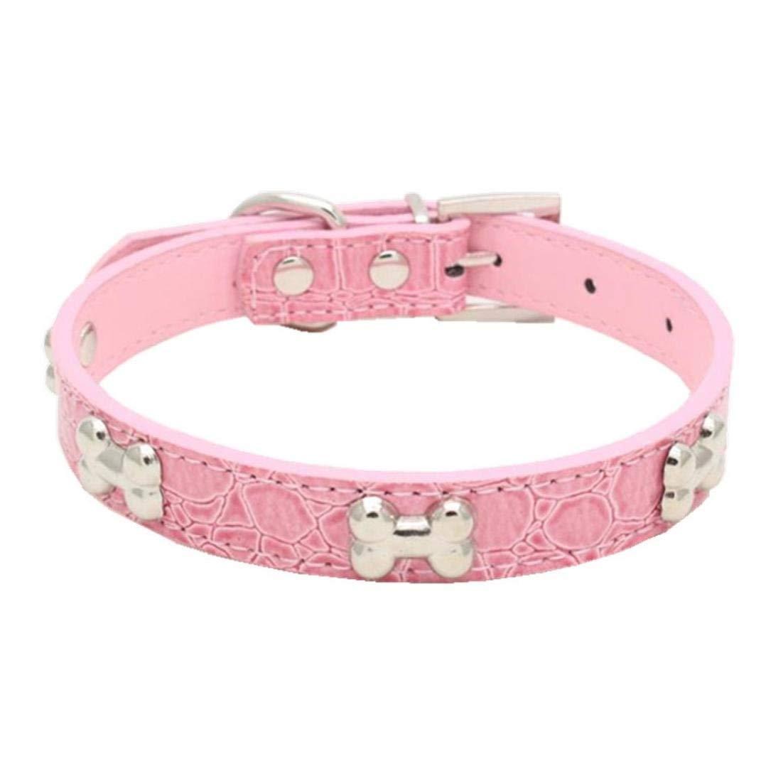 Howstar Pet Collar, Puppy Collar Adjustable Bling Bone Necklace Dog Collar Necklace