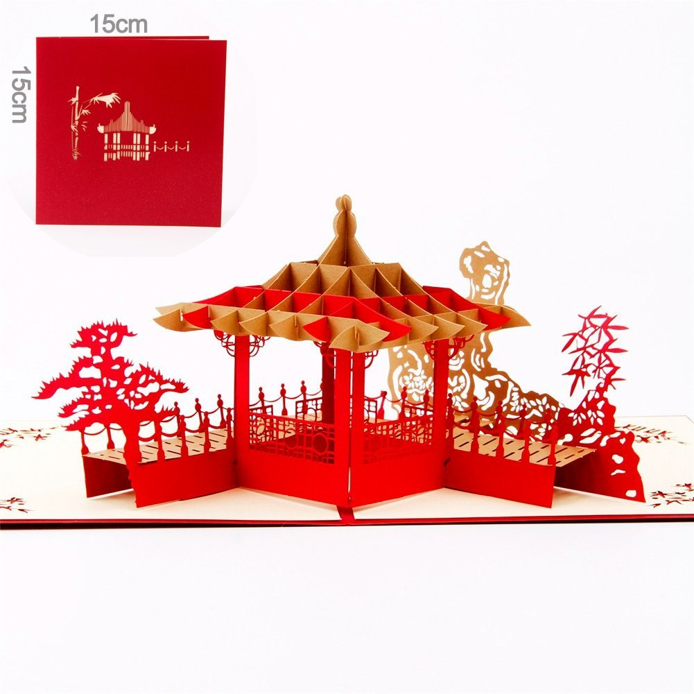 Buy Paper Spiritz Pop Up Annivesary Card - Chinese Suzhou Gardens ...