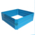 Square Blue Metal Galvanized Garden Raised Flower Bed