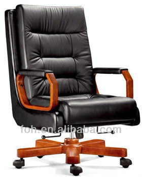 Softness Comfortable Sponge Leather Executive Office Chair President Ceo In Black Top Quality