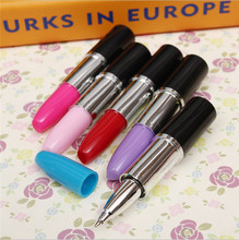Creative novelty stationery ballpoint pen scalable simulation modeling lipstick pens stationery school office writing ballpen