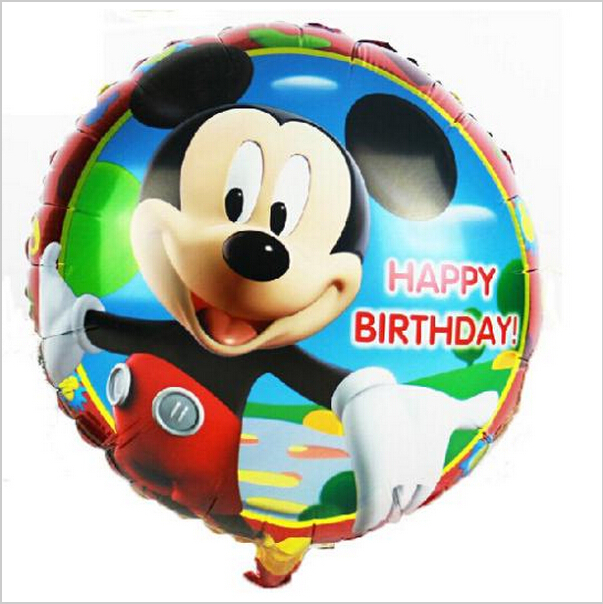 18inch Mickey Mouse Party Foil Balloons for Baby Boy Son 18inch Happy Birthday Balloons 45 45cm