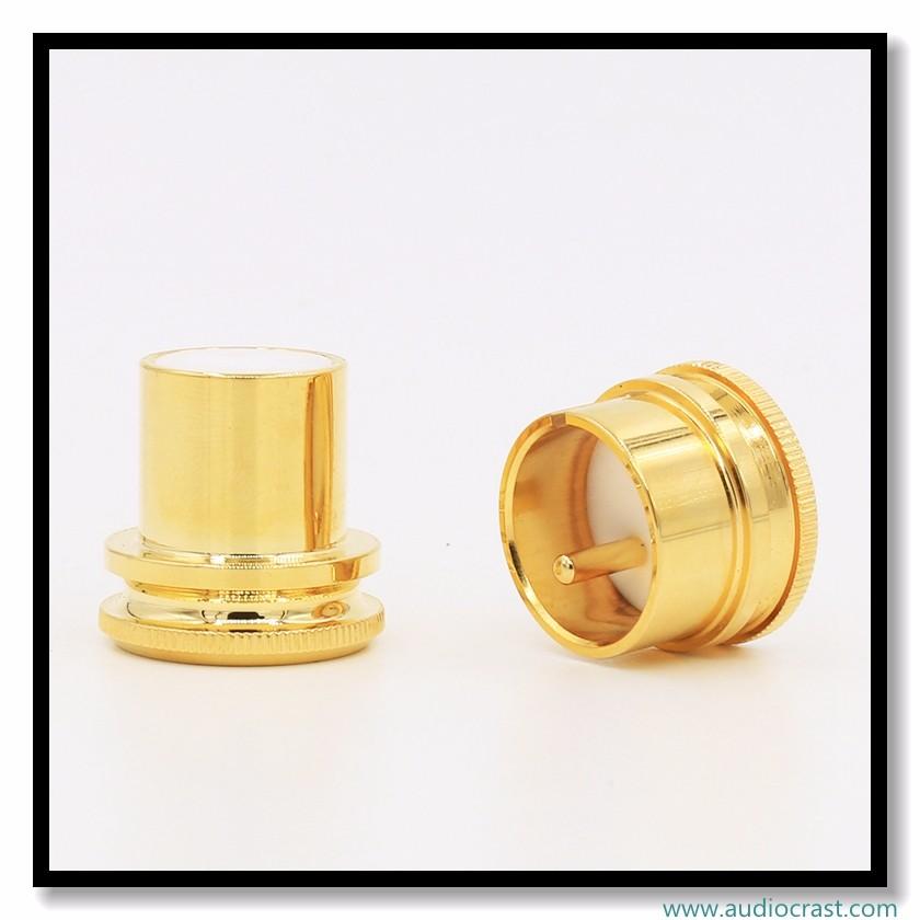 ชุบทอง AC ตัวเชื่อมต่อปลั๊กไฟ EU เสียงใสชุบทองปลั๊กไฟ
