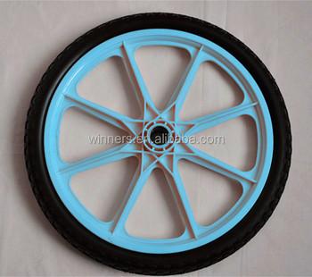20 Inch Plastic Rim Solid Polyurethane Garden Cart Wheels