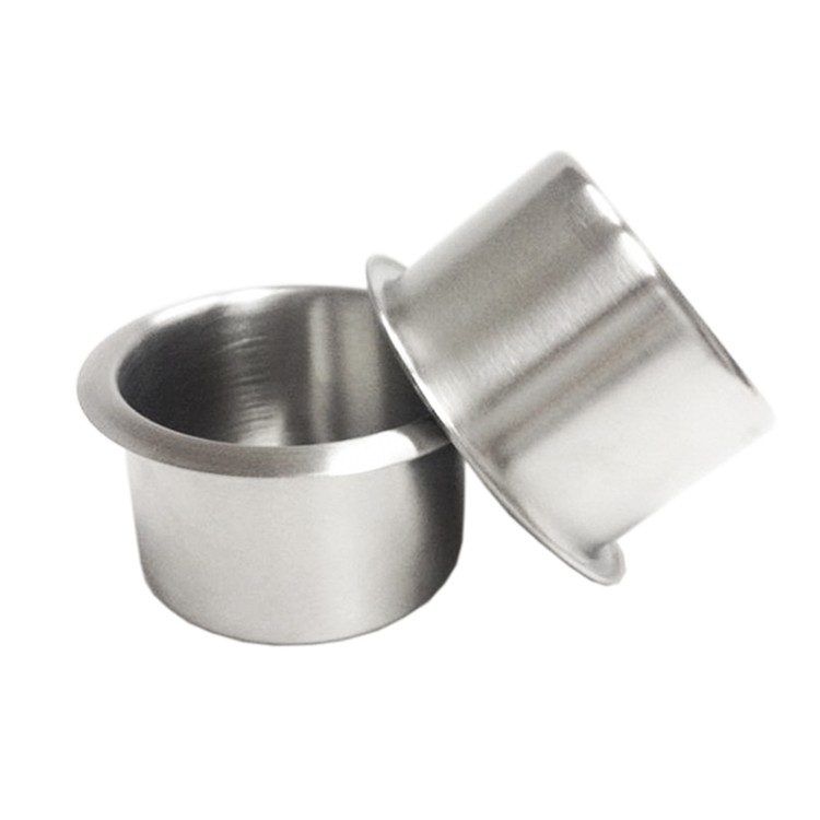 8 stainless steel shallow  drink cup holder for tables cars and more