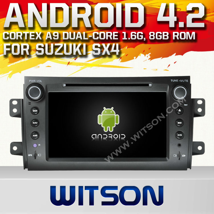WITSON ANDROID 4.2 AUTO CAR DVD GPS NAVIGATION SUZUKI SX4 WITH A9 CHIPSET 1080P 8G ROM