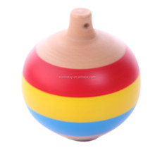 innovative products exporting childhood handmade educational toys Traditional wooden nostalgic super magic Inverted Gyro top