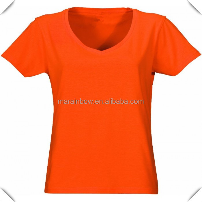 Ladies Heavy cotton Super sports Club V-Neck T-Shirt custom made with logo printed or sublimation printing OEM service