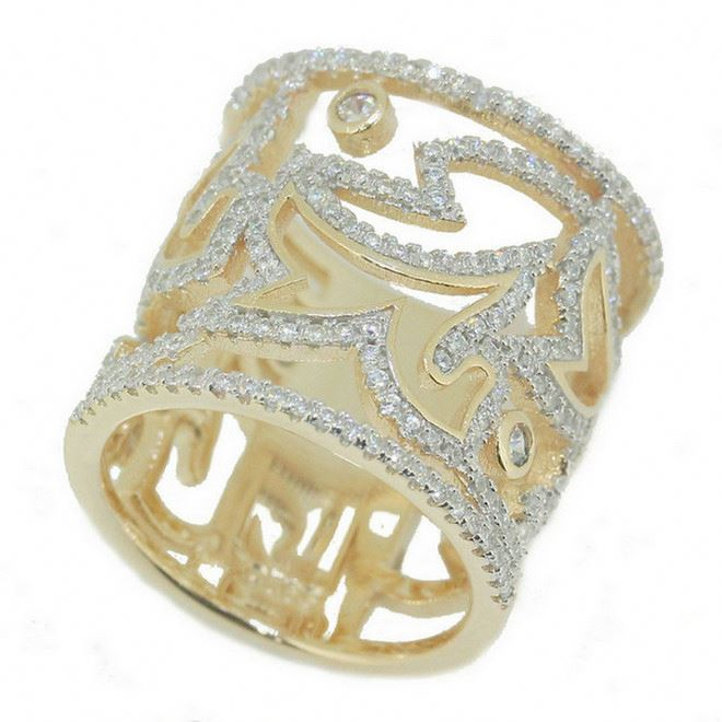 XINHUI wholesale sterling silver 925 gold plated sultan ring factory price