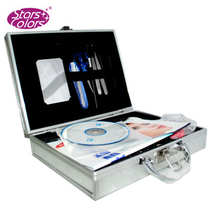 Silver Butterfly engraft eyelash extensions case tray display eyelash extension kit with wholesale price