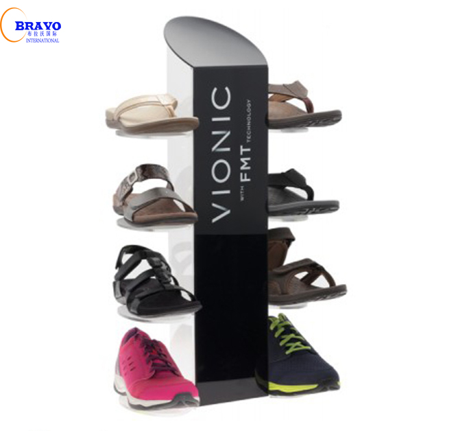Plexiglass nike show display case Acrylic sneaker shoe box display stand