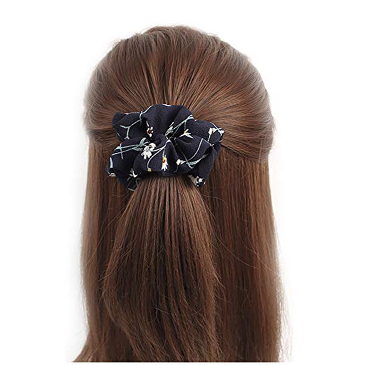 2019 Fashionable elastic hair band girls women hair accessories chiffon tulle hair ties scrunchies
