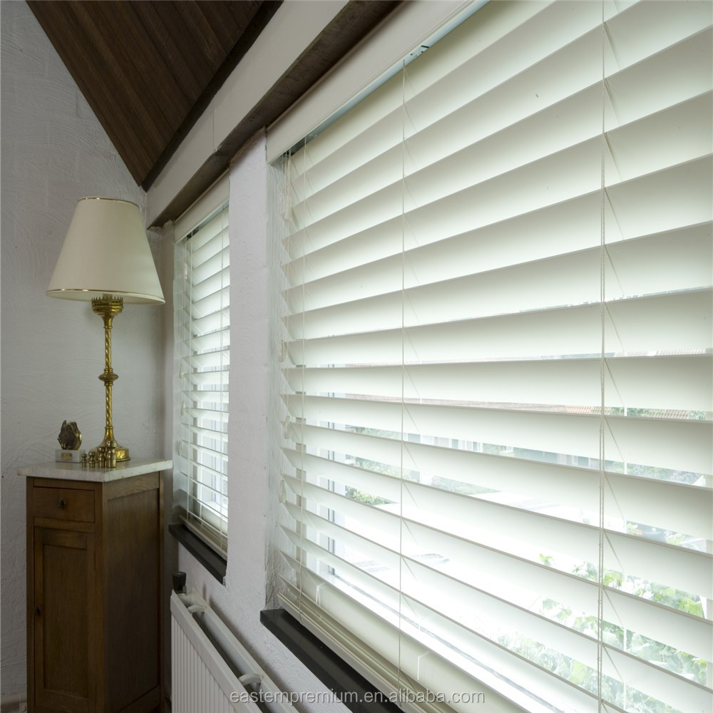 custom decorative manual pvc Fauxwood venetian window blinds