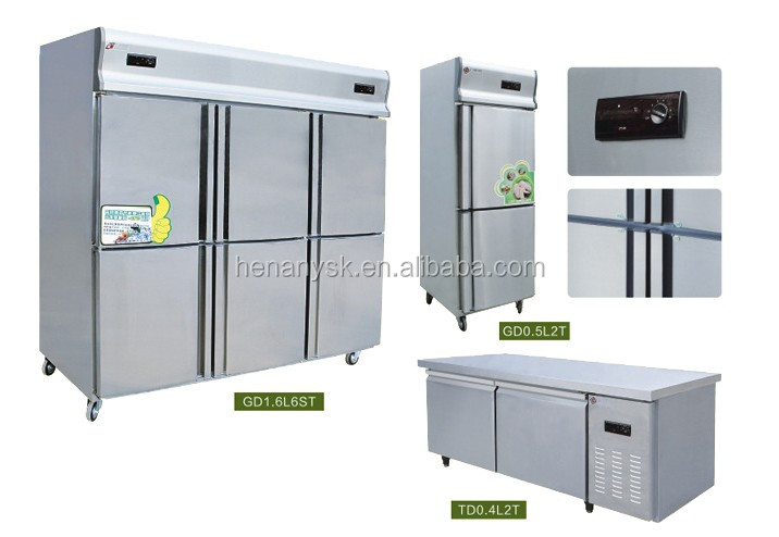 commercial 6 Door vertical cold Freezer fridge kitchen refrigerator food kitchen chiller