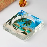 New Fashion Personalized Square Green Glass Ashtray For Table Decoration