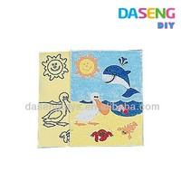 color sand art painting toy beach serie