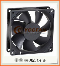 electric exhaust dc motor flow fan China supplier/axial fan 5v 12v 24v 80*80*25mm