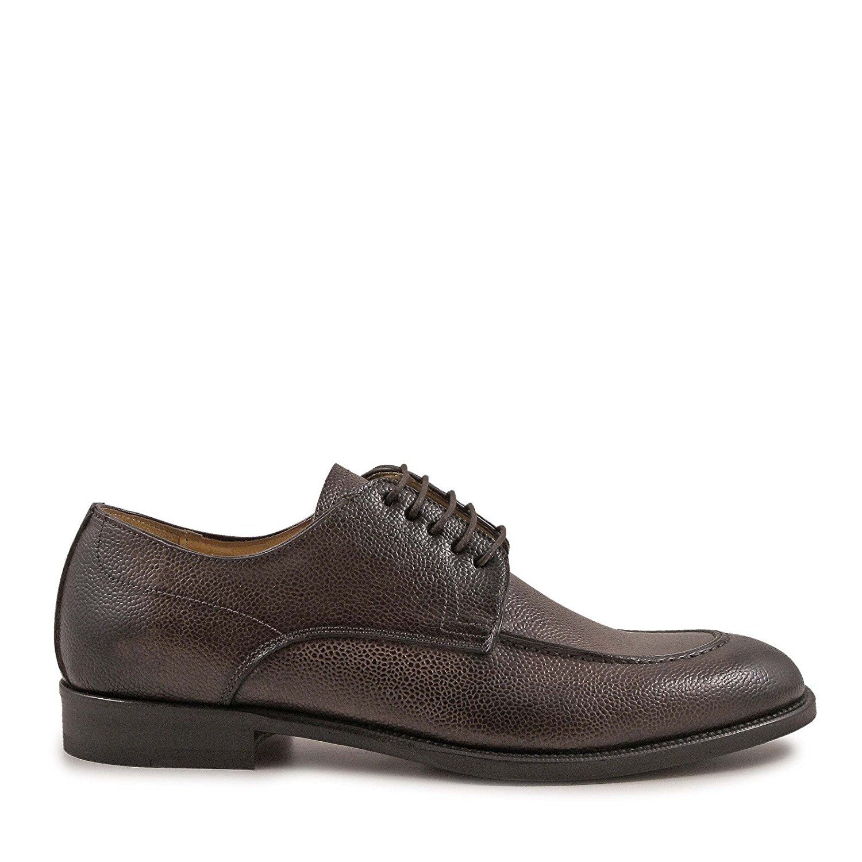 LEONARDO SHOES Men's 4827SCOZIACIOCCOLATO Brown Leather Lace-up Shoes