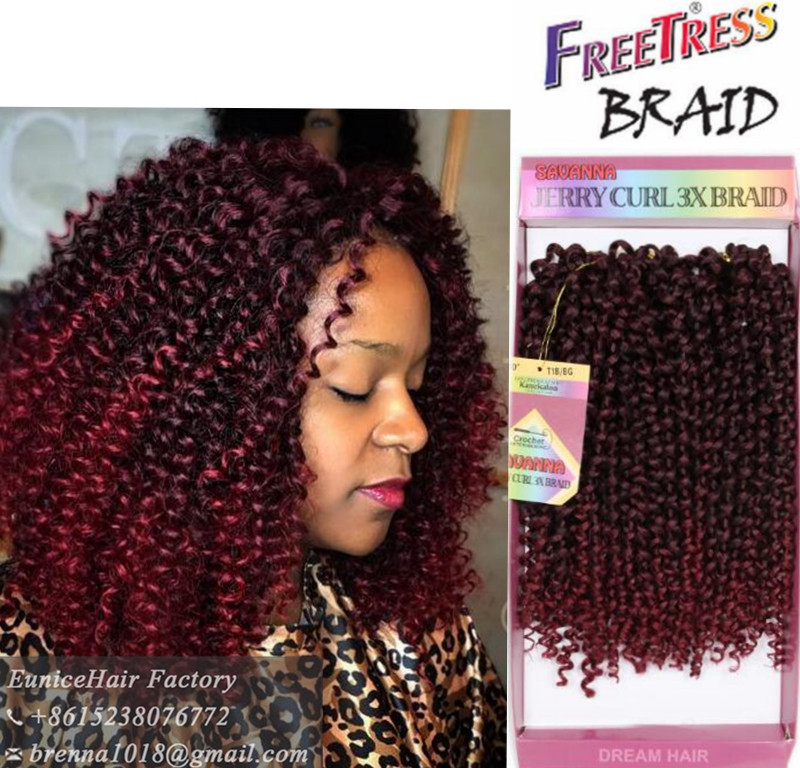 New Hair Products Synthetic Hair Jerry Curly Hair Extension