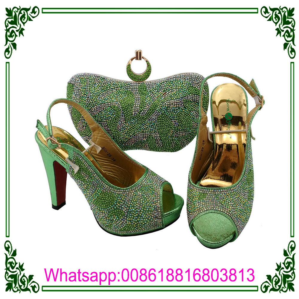 matching To Italian green Mtach and High bags Shoes heel shoes Bag And O5Swx1q