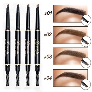 Professional Double end Eyebrow Pencil Makeup Waterproof Eyebrow Black Brown Natural Eye Brow Pen Brush Make Up Cosmetics