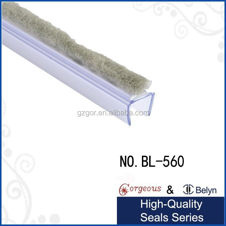 Glass Door Window Draught Excluder Brush Weather Strip Seal Shower Product On Alibaba