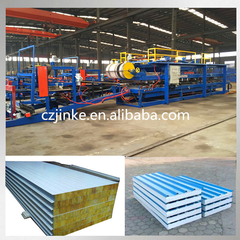 roll forming line EPS Rock Wool Sandwich Panel Machine