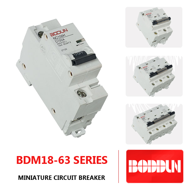 4P minature circuit breaker BDM18-63 mcb