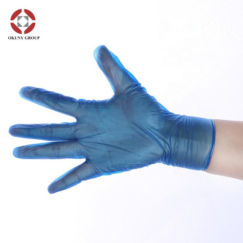 S, M, L weiß / blaues, klares Einweg-Vinyl für den Haushalt