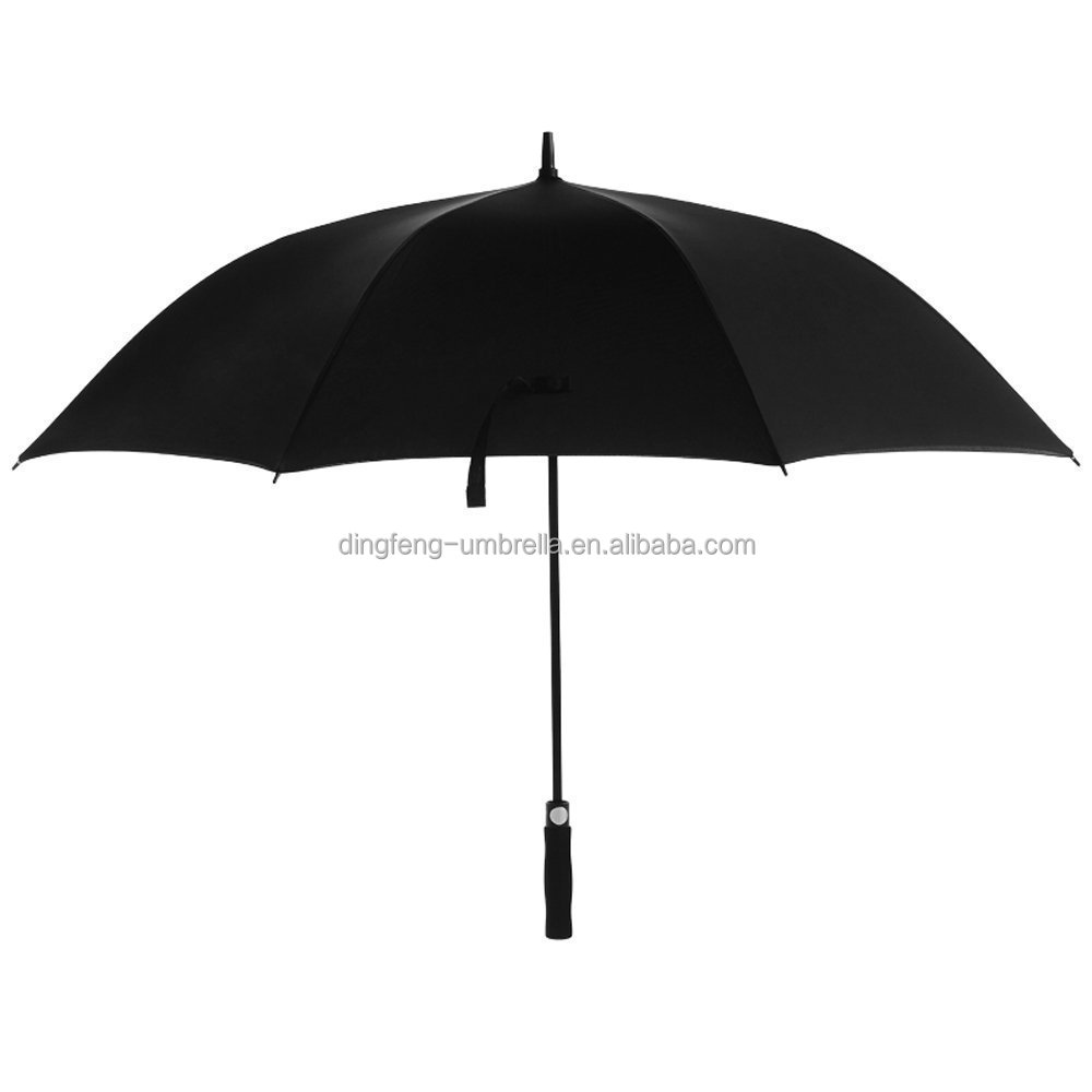 2017 promotional large size Noble black business affairs automatic EVA handle single layer golf umbrella from China