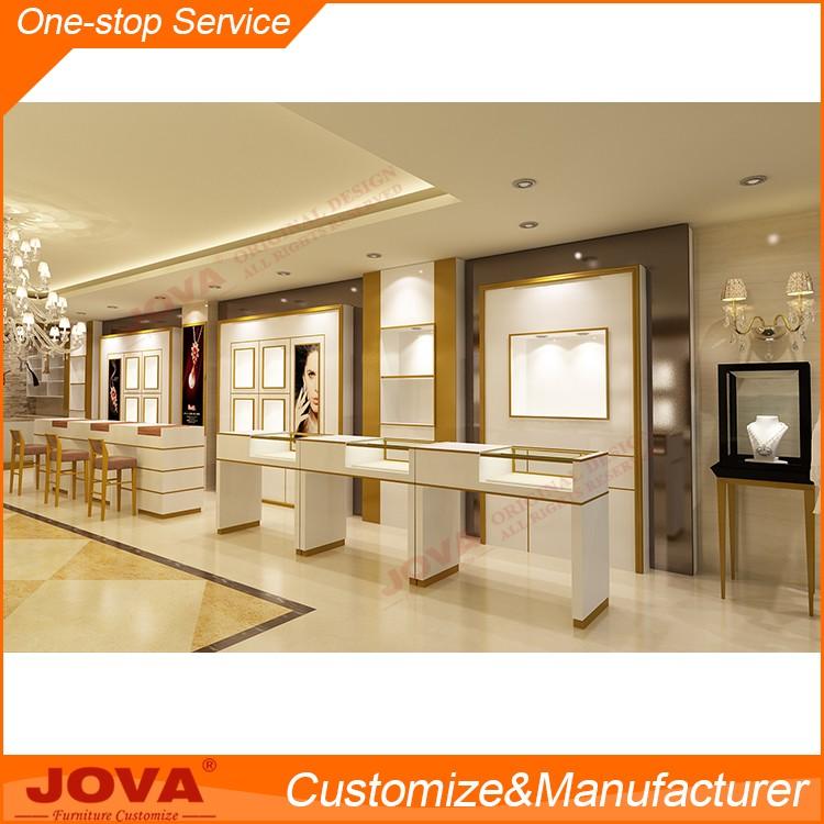 Original Custom Wood Glass Jewellery Display Showcase
