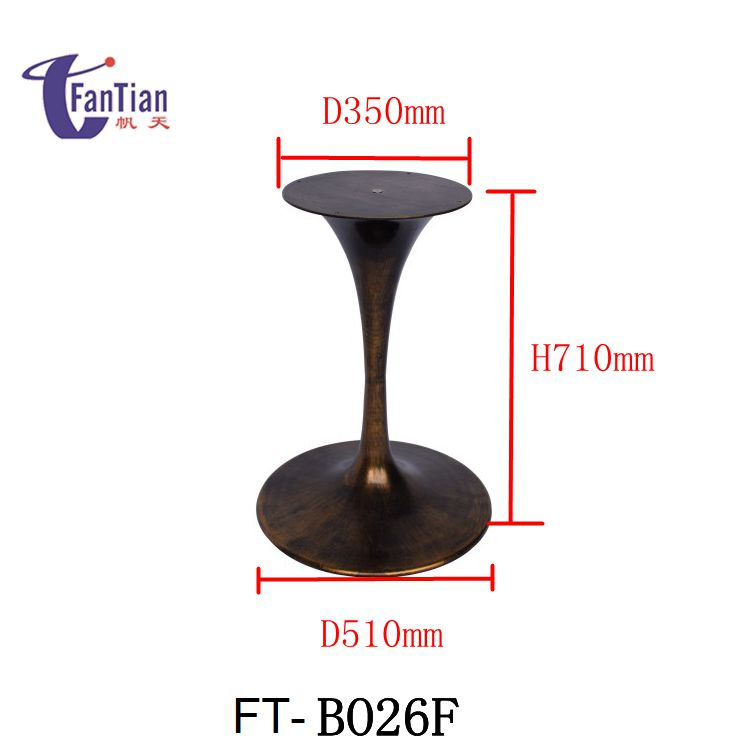wholesale wrought iron trumpet Tulip Table Base For Sale