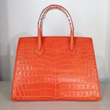 Ladies High End Quality Handmade 100% Genuine Exotic Crocodile Leather Bag For Women