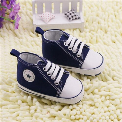 Retail Spring Infant Toddler Newborn Baby Shoes Canvas Unisex Kids Classic Sports Sneakers Bebe Soft Bottom Anti-slip Shoes