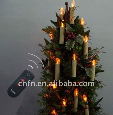infrared ray remote control led candle christmas decoration (CE&ROHS prove)