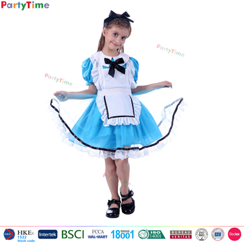 sweetie girl blue fairytale dress with white apron alice in wonderland costume alice costume