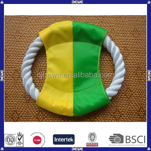 China OEM Cheap Price High Quality Cotton Rope Folding Frisbee