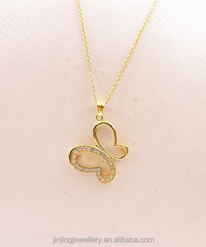 Elegant gold butterfly pendant necklace for girls buy necklaces elegant gold butterfly pendant necklace for girls mozeypictures Choice Image