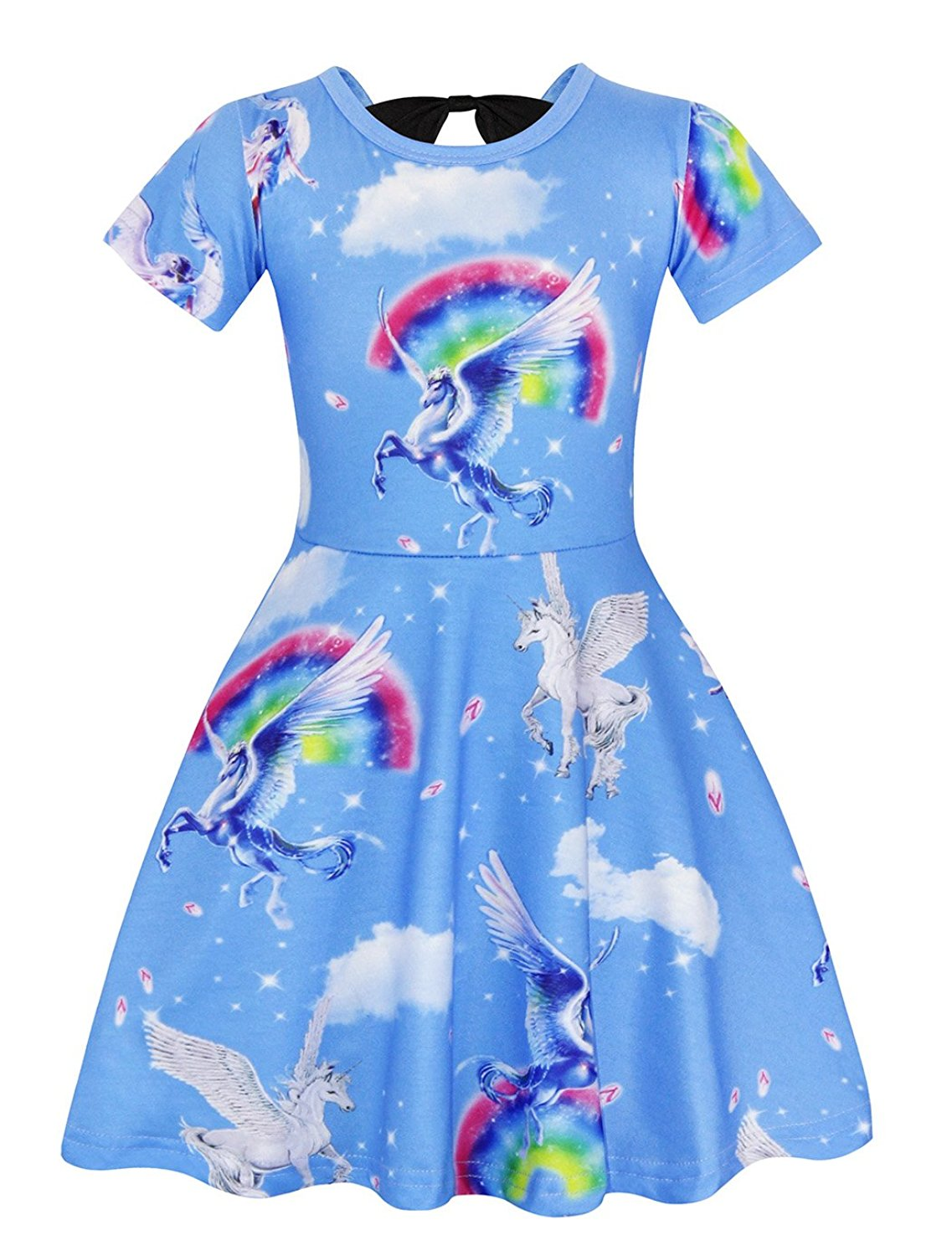 16afafa7 Get Quotations · Cotrio Rainbow Unicorn Dress for Little Girls Fancy Party  Dresses Birthday Outfits Clothes