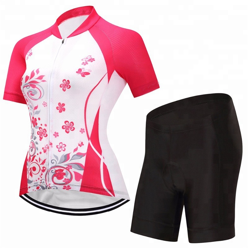 Women Professional Summer Cycling Wear Manufacturer Quick Dry Breathable Customized Cycling Jersey and cycling shorts