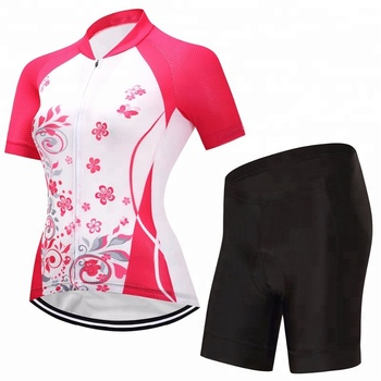Women Professional Summer Cycling Wear Manufacturer Quick Dry Breathable  Customized Cycling Jersey and cycling shorts 008ad7281