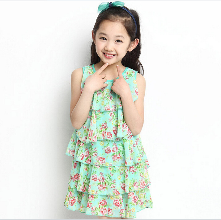 063999f09 Get Quotations · Summer Children Dress Girls Elegant Party Children Dresses  Girls Princess Pleated Chiffon Dress Children Dresses For
