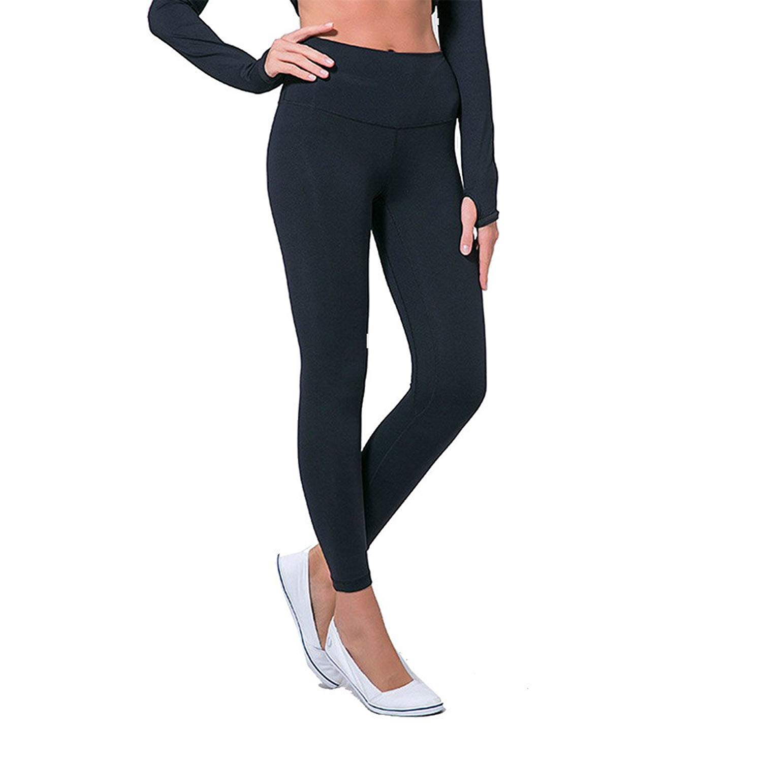962944225466c2 Get Quotations · MCOUW Anti-Sweat Mention Hip Sport Gym Leggings Women High  Waisted Yoga Fitness Pants Seamless