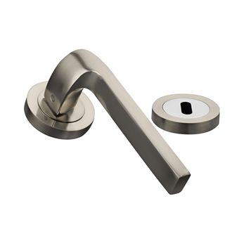 American style square satin nickel fashioned interior door lever handles prices R01-H148