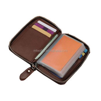 Wholesale Folded Genuine Saffiano Leather Card Holder Wallet Credit
