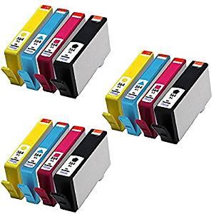 HOTCOLOR 12Pack 564 564 XL 564XL 3X(Black,Cyan,Magenta,Yellow) Ink Cartridge for HP Deskjet 3521 3522 Officejet 4610 4622 Photosmart 5512 5515 6510 6512 6515 6520 6525 B209a B210a B201e Printer