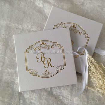 Luxury Cardboard Gold Foil Letterpress Printing Royal Wedding Invitation Cards