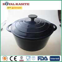 Eco-friendly Enamel coating cast iron double ears cookware
