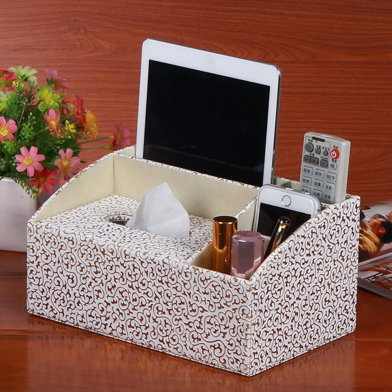 creative home supplies creative home supplies multifunctional tissue box desktop remote control leather , creative home supplies, household items, creative products, leather pumping paper box, stora