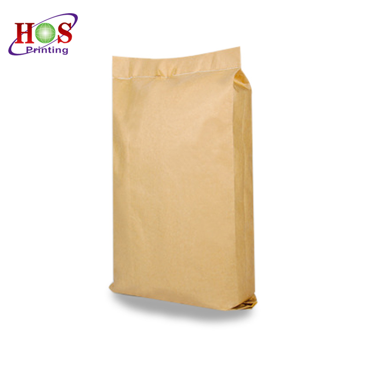 5kg 10kg 20kg 25kg 50kg Cement Packaging Recycling Big Nature Kraft Paper Bag